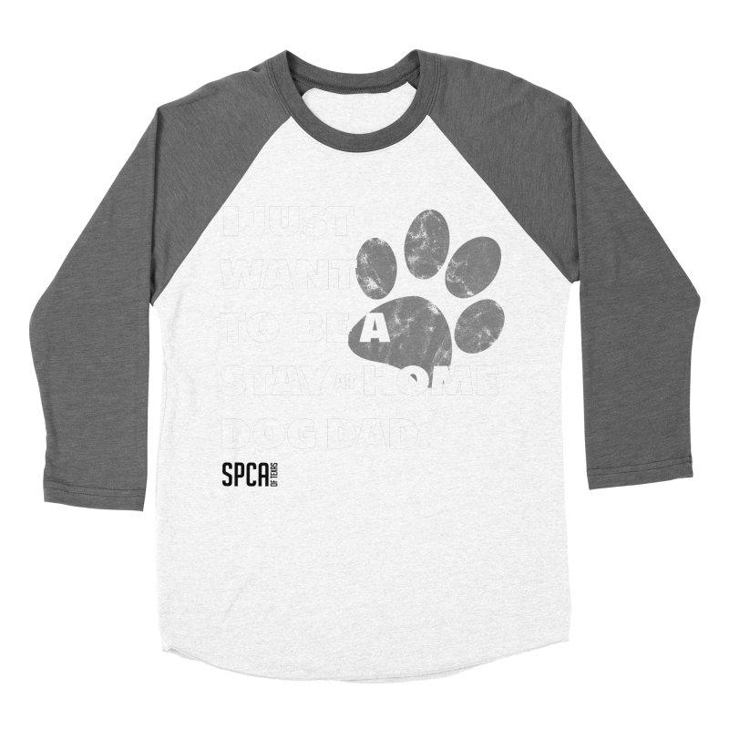 Dog Dad Men's Baseball Triblend Longsleeve T-Shirt by SPCA of Texas' Artist Shop