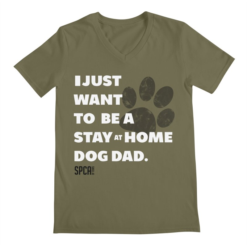 Dog Dad Men's Regular V-Neck by SPCA of Texas' Artist Shop