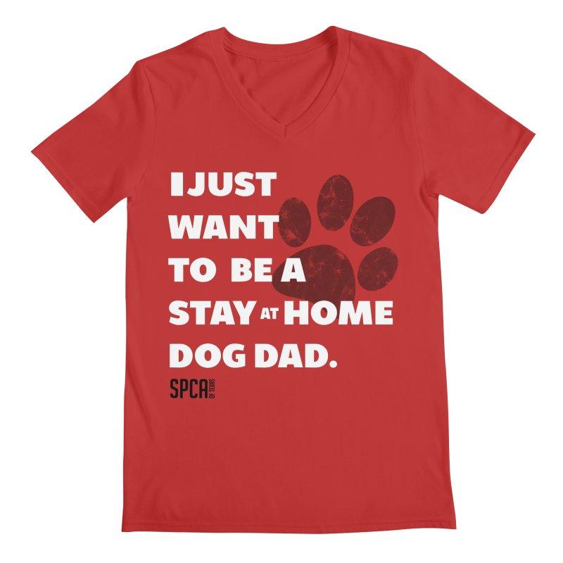 Dog Dad Men's V-Neck by SPCA of Texas' Artist Shop