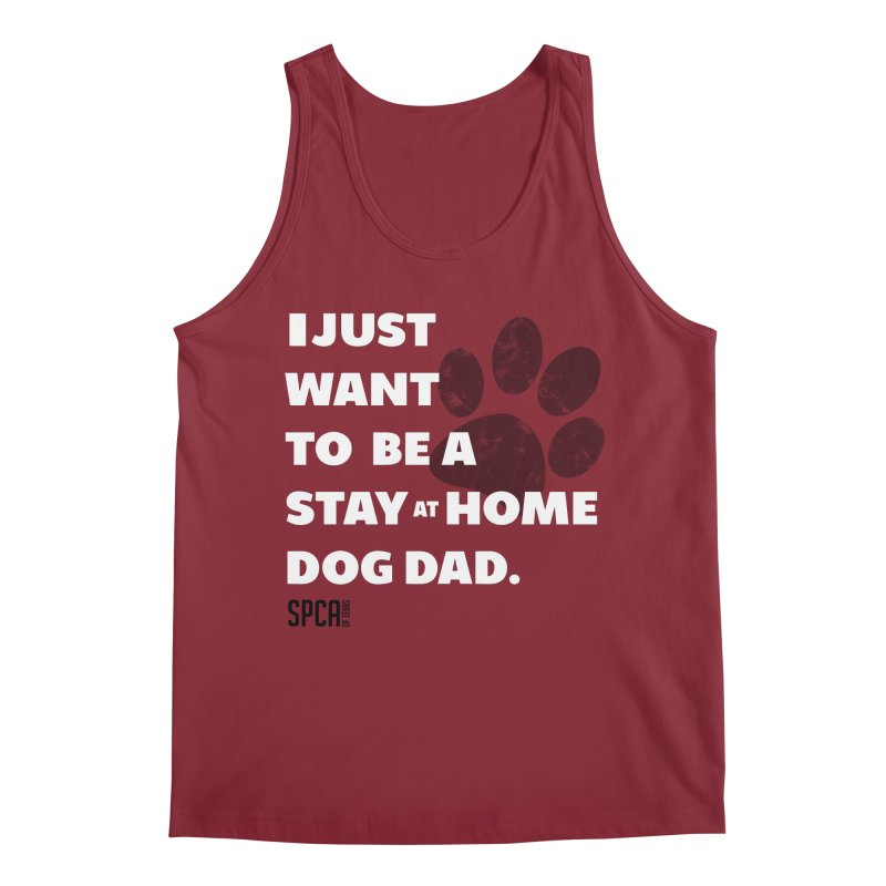 Dog Dad Men's Regular Tank by SPCA of Texas' Artist Shop