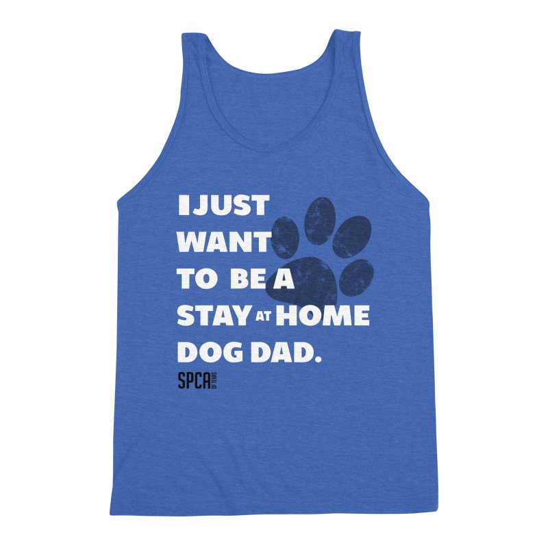 Dog Dad Men's Triblend Tank by SPCA of Texas' Artist Shop