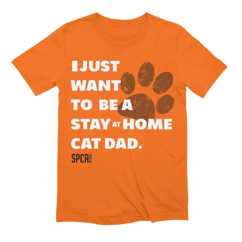 Cat Dad Men's Extra Soft T-Shirt by SPCA of Texas' Artist Shop