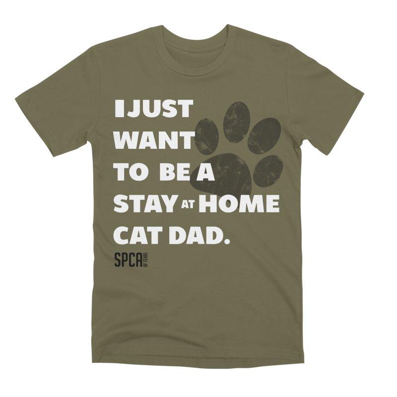 Cat Dad Men's Premium T-Shirt by SPCA of Texas' Artist Shop