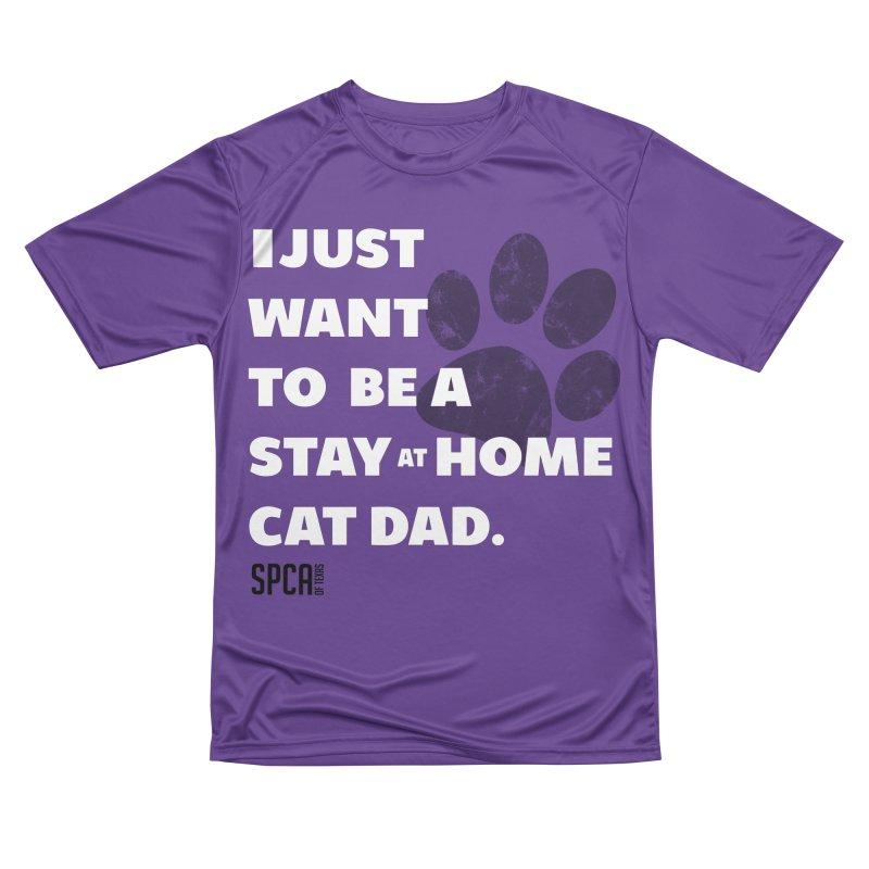 Cat Dad Men's Performance T-Shirt by SPCA of Texas' Artist Shop