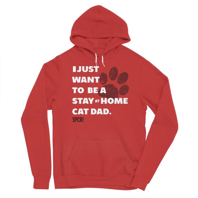 Cat Dad Men's Pullover Hoody by SPCA of Texas' Artist Shop