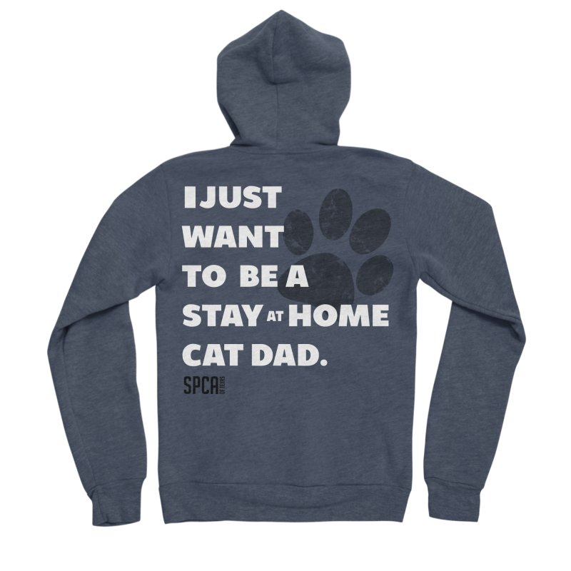Cat Dad Men's Sponge Fleece Zip-Up Hoody by SPCA of Texas' Artist Shop