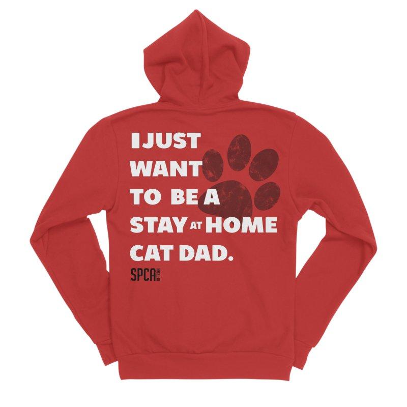 Cat Dad Men's Zip-Up Hoody by SPCA of Texas' Artist Shop