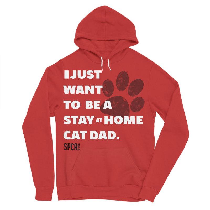 Cat Dad Men's Sponge Fleece Pullover Hoody by SPCA of Texas' Artist Shop