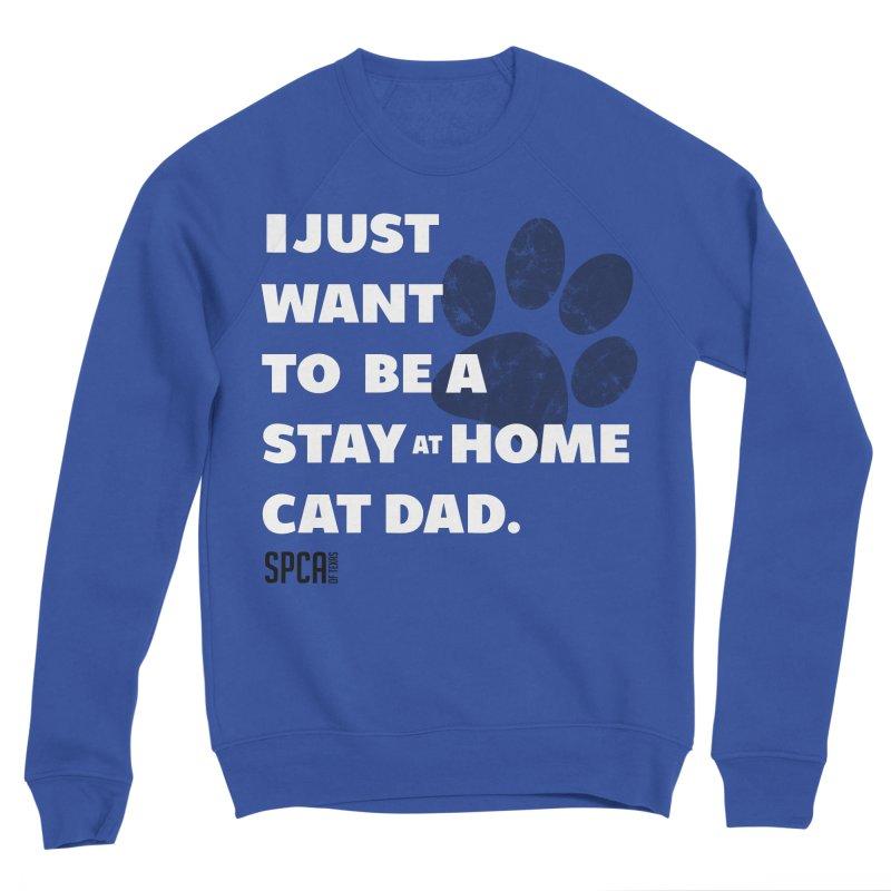 Cat Dad Men's Sponge Fleece Sweatshirt by SPCA of Texas' Artist Shop