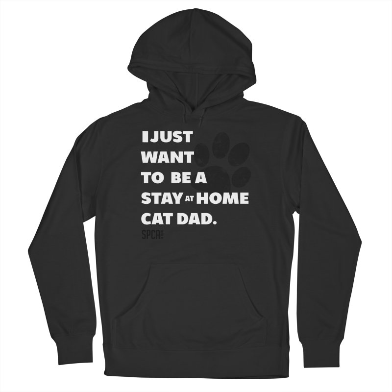 Cat Dad Men's French Terry Pullover Hoody by SPCA of Texas' Artist Shop