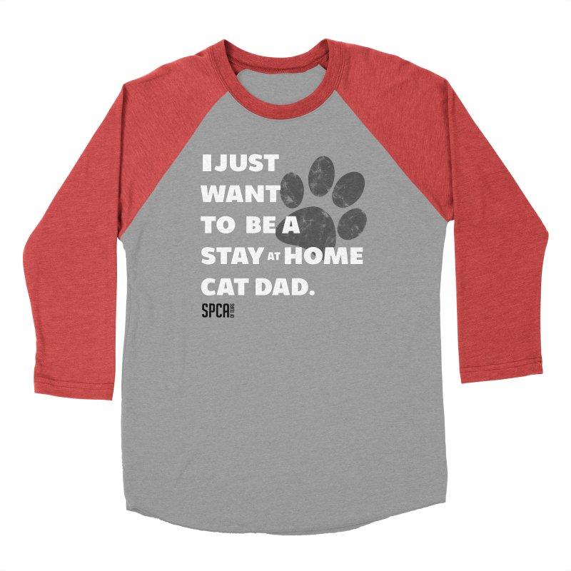 Cat Dad Men's Baseball Triblend Longsleeve T-Shirt by SPCA of Texas' Artist Shop