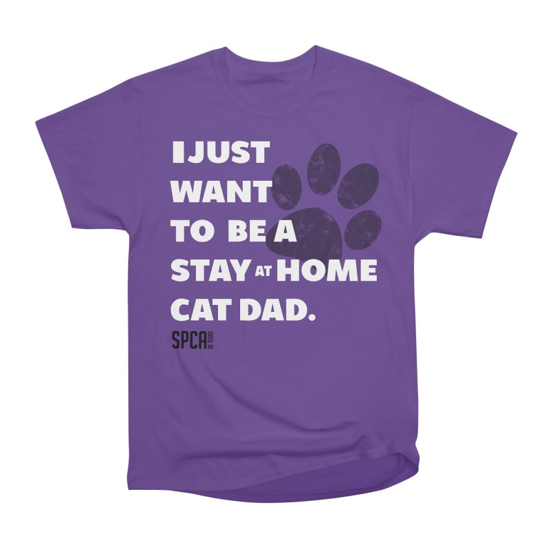 Cat Dad Men's Heavyweight T-Shirt by SPCA of Texas' Artist Shop