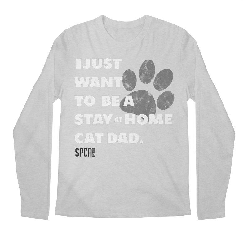 Cat Dad Men's Regular Longsleeve T-Shirt by SPCA of Texas' Artist Shop