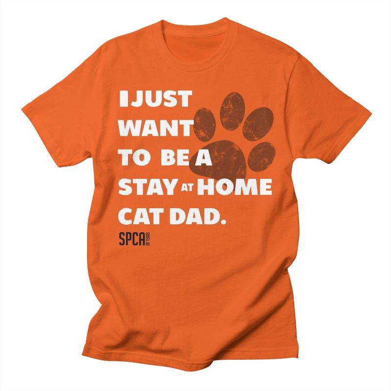 Cat Dad Men's Regular T-Shirt by SPCA of Texas' Artist Shop