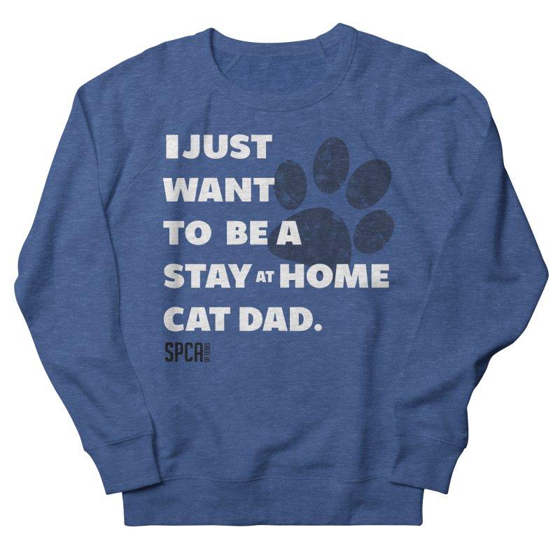 Cat Dad Men's Sweatshirt by SPCA of Texas' Artist Shop