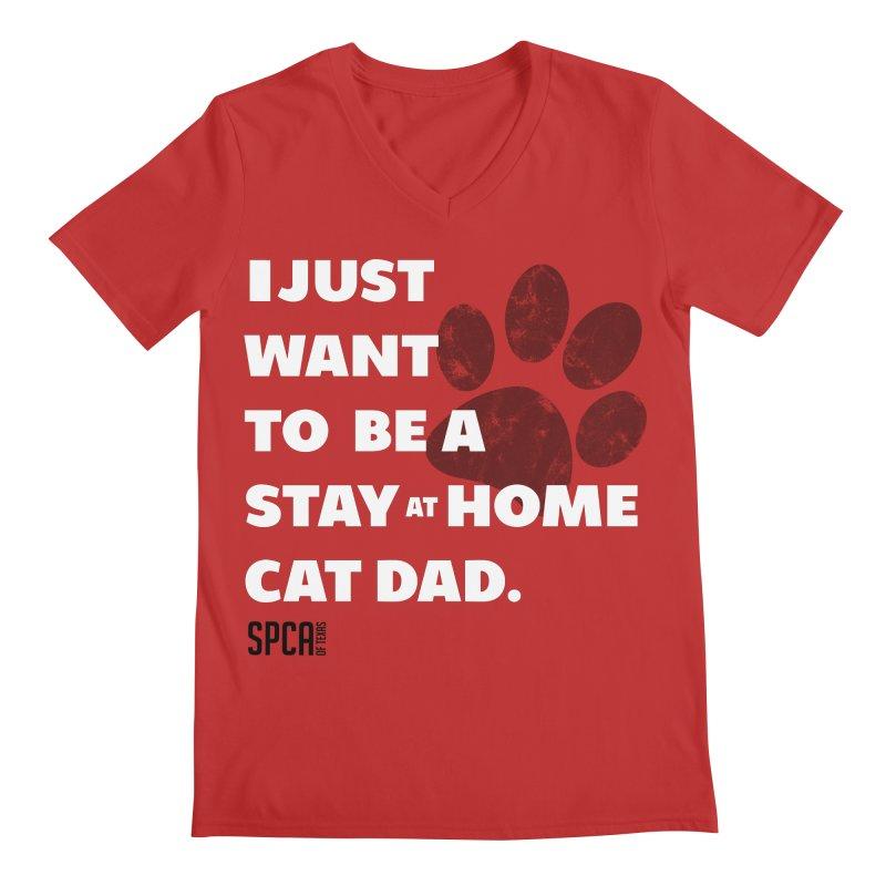 Cat Dad Men's V-Neck by SPCA of Texas' Artist Shop