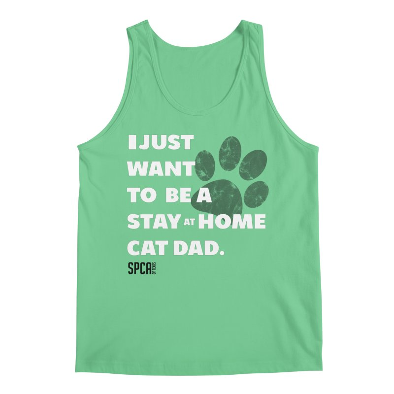 Cat Dad Men's Regular Tank by SPCA of Texas' Artist Shop
