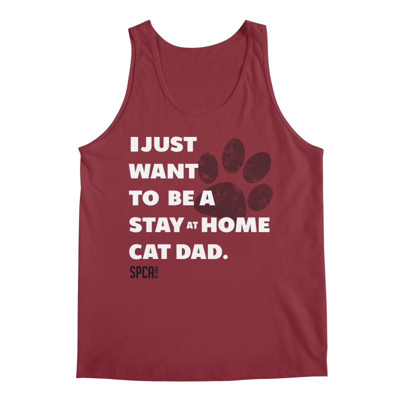 Cat Dad Men's Tank by SPCA of Texas' Artist Shop