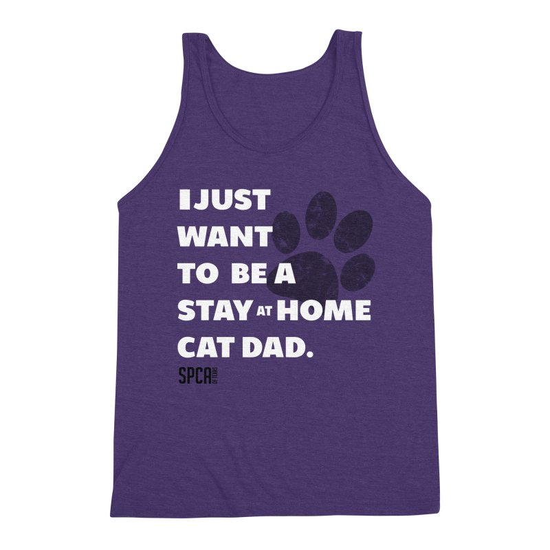 Cat Dad Men's Triblend Tank by SPCA of Texas' Artist Shop