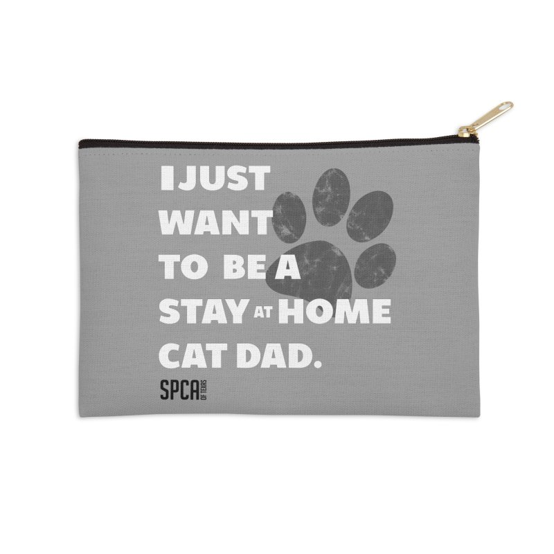 Cat Dad Accessories Zip Pouch by SPCA of Texas' Artist Shop