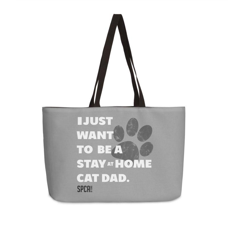 Cat Dad Accessories Weekender Bag Bag by SPCA of Texas' Artist Shop