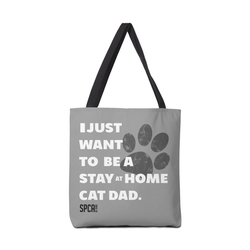 Cat Dad Accessories Tote Bag Bag by SPCA of Texas' Artist Shop