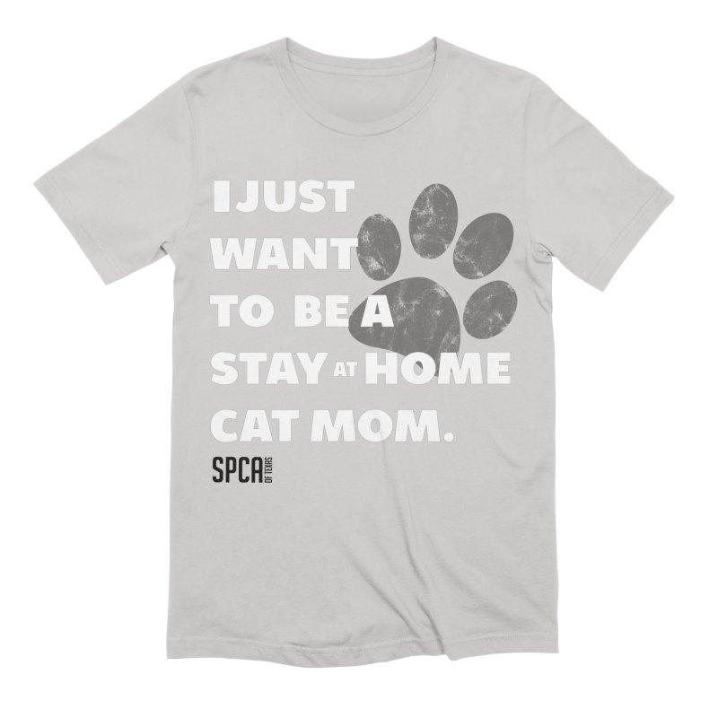 Cat Mom Men's Extra Soft T-Shirt by SPCA of Texas' Artist Shop