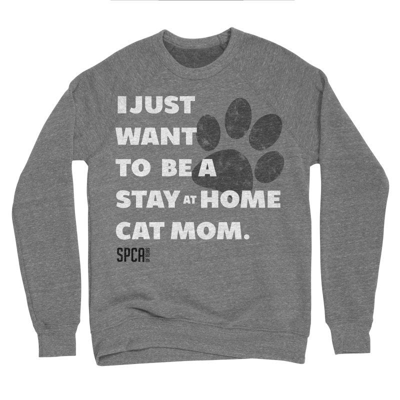 Cat Mom Men's Sponge Fleece Sweatshirt by SPCA of Texas' Artist Shop