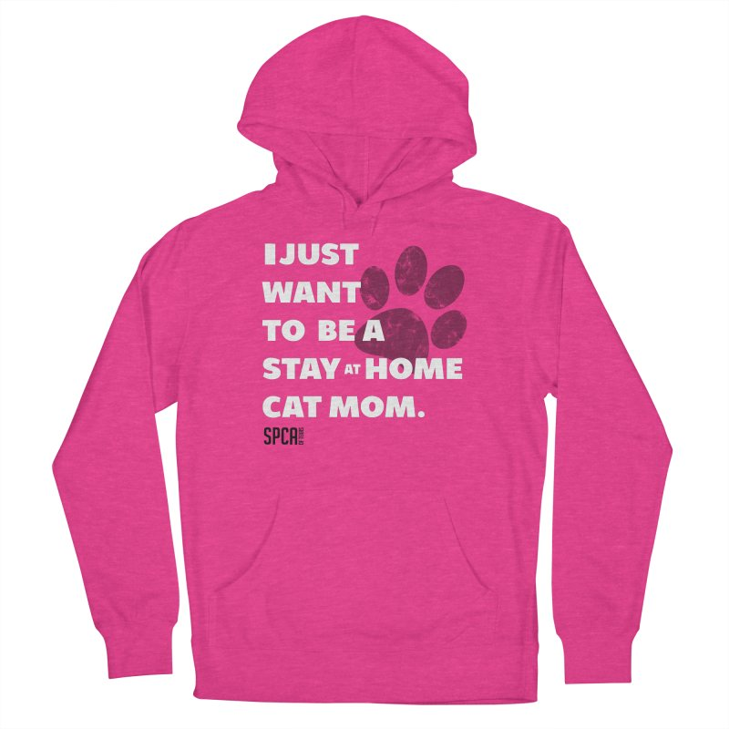 Cat Mom Women's French Terry Pullover Hoody by SPCA of Texas' Artist Shop
