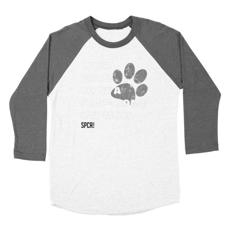 Cat Mom Men's Baseball Triblend Longsleeve T-Shirt by SPCA of Texas' Artist Shop