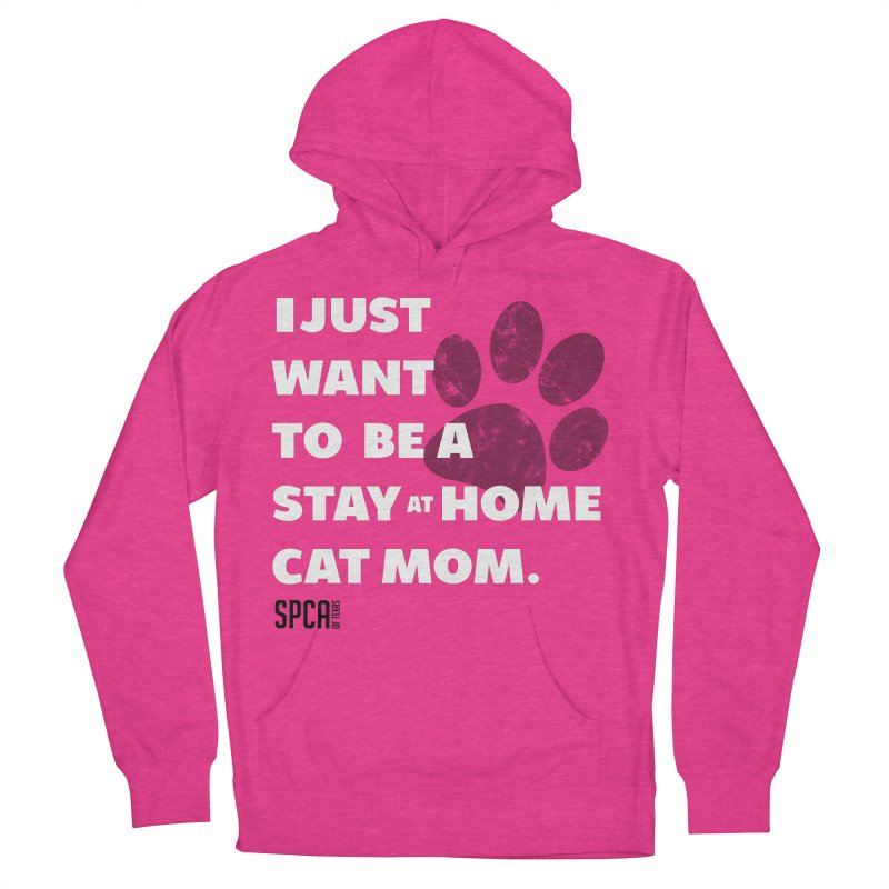 Cat Mom Men's French Terry Pullover Hoody by SPCA of Texas' Artist Shop