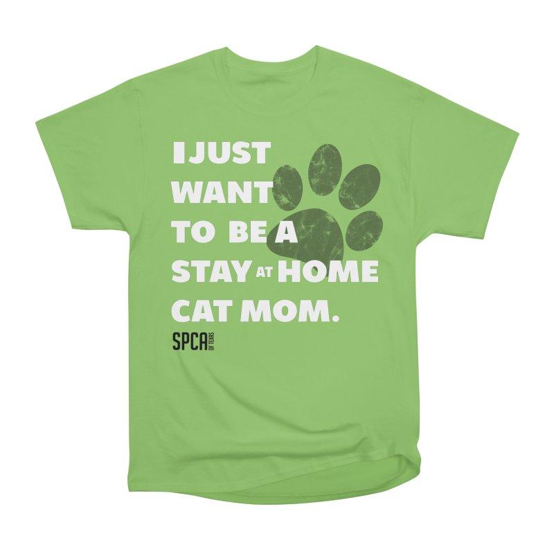 Cat Mom Women's Heavyweight Unisex T-Shirt by SPCA of Texas' Artist Shop