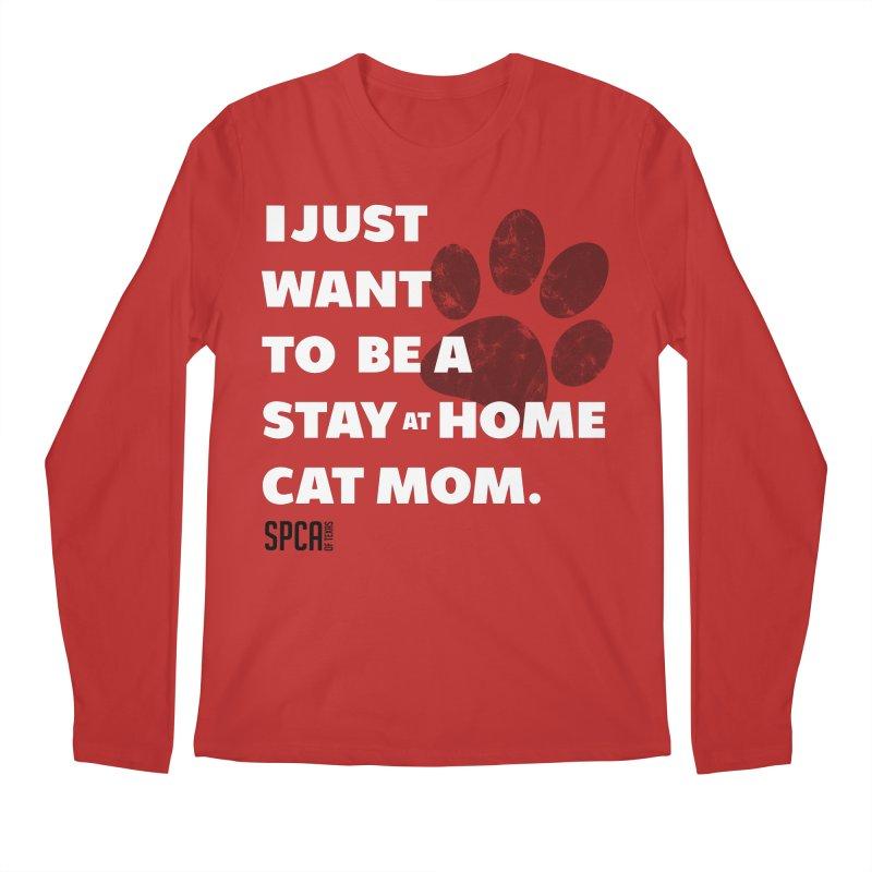 Cat Mom Men's Regular Longsleeve T-Shirt by SPCA of Texas' Artist Shop