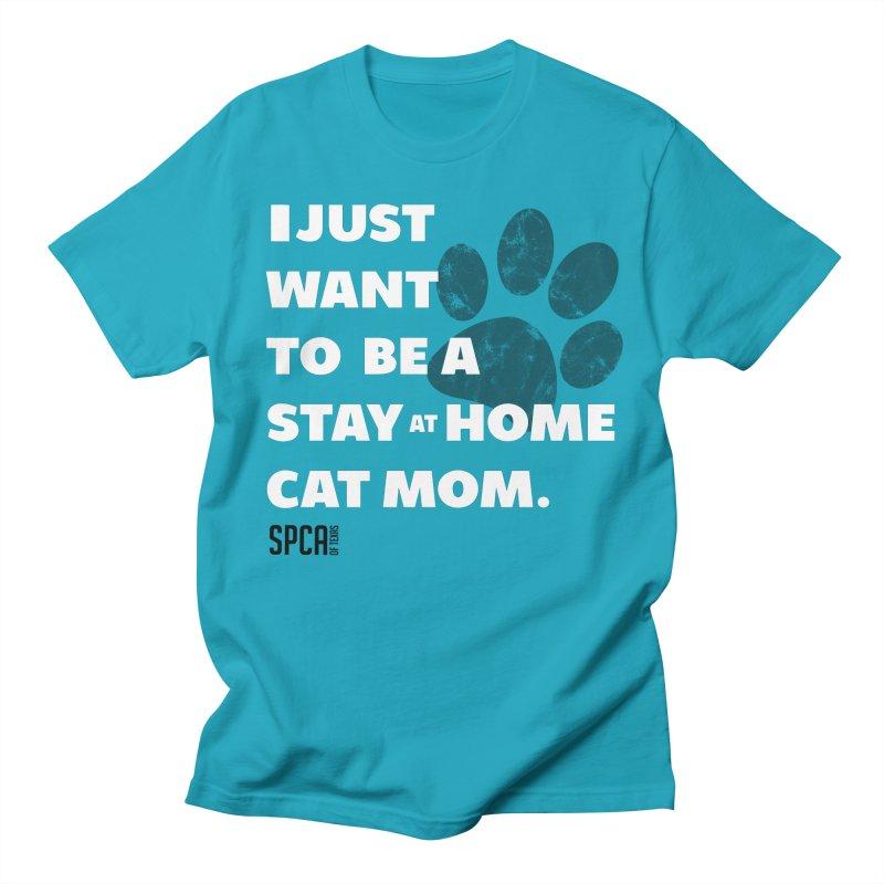 Cat Mom Men's Regular T-Shirt by SPCA of Texas' Artist Shop