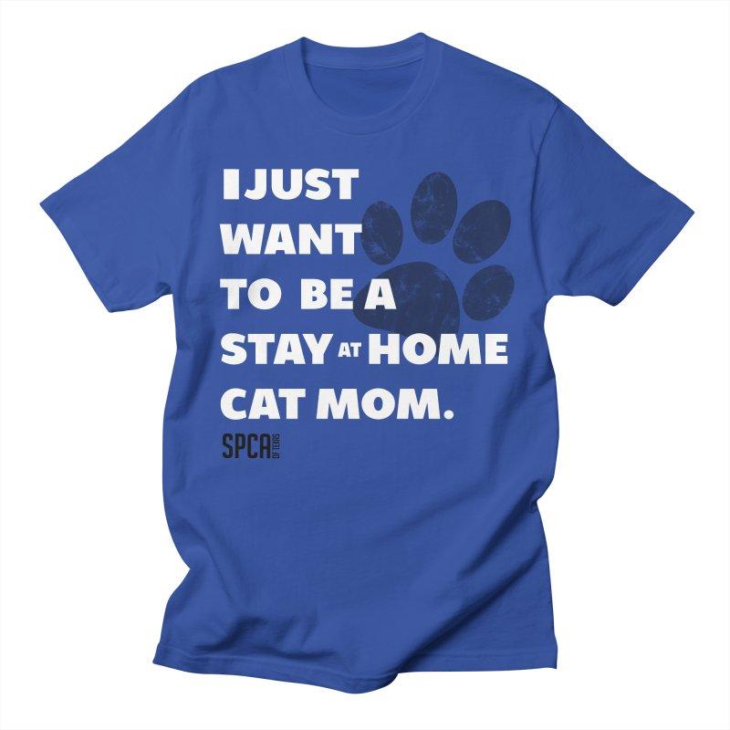 Cat Mom Women's Regular Unisex T-Shirt by SPCA of Texas' Artist Shop