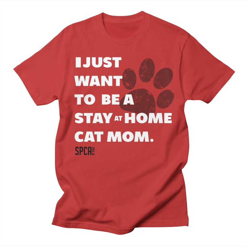 Cat Mom Men's Regular T-Shirt by SPCA of Texas' Artist Shop