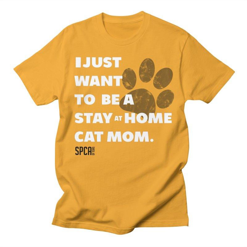Cat Mom Men's T-Shirt by SPCA of Texas' Artist Shop