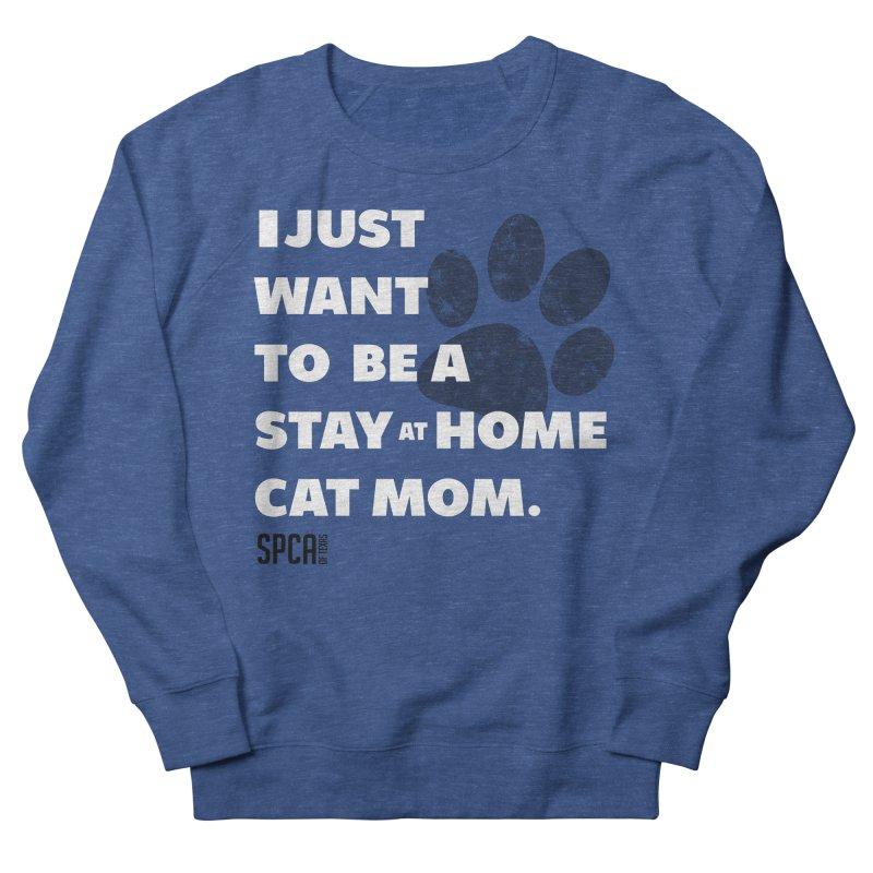 Cat Mom Men's Sweatshirt by SPCA of Texas' Artist Shop