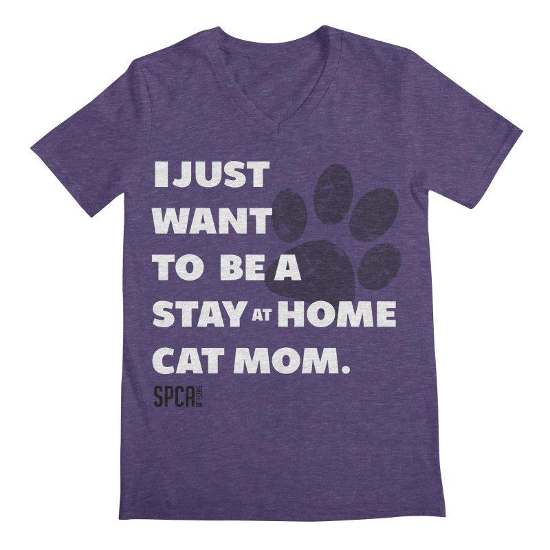Cat Mom Men's Regular V-Neck by SPCA of Texas' Artist Shop