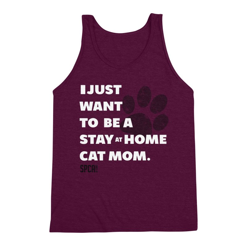 Cat Mom Men's Triblend Tank by SPCA of Texas' Artist Shop