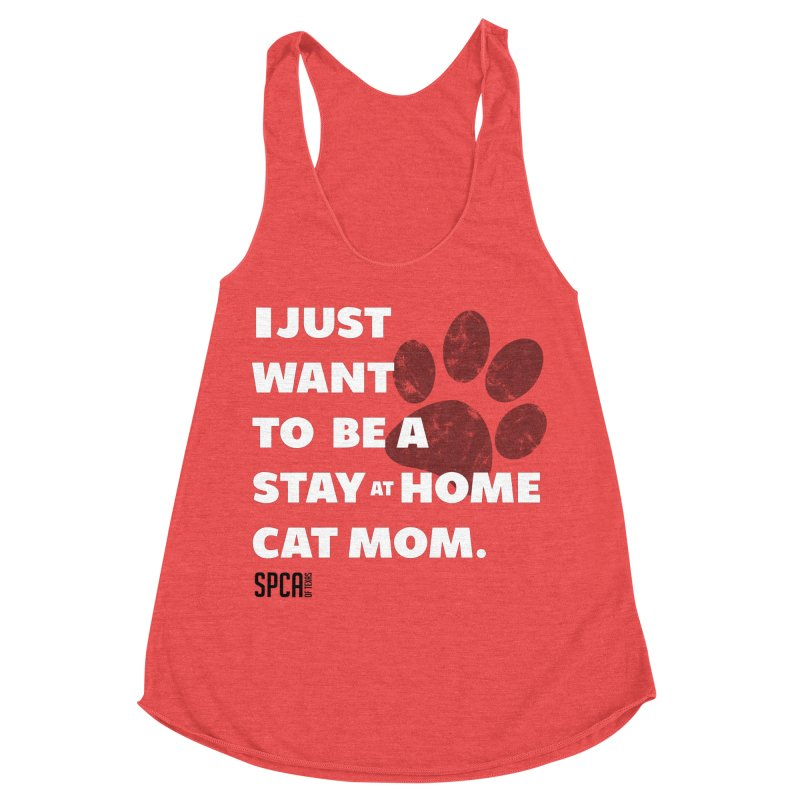 Cat Mom Women's Racerback Triblend Tank by SPCA of Texas' Artist Shop