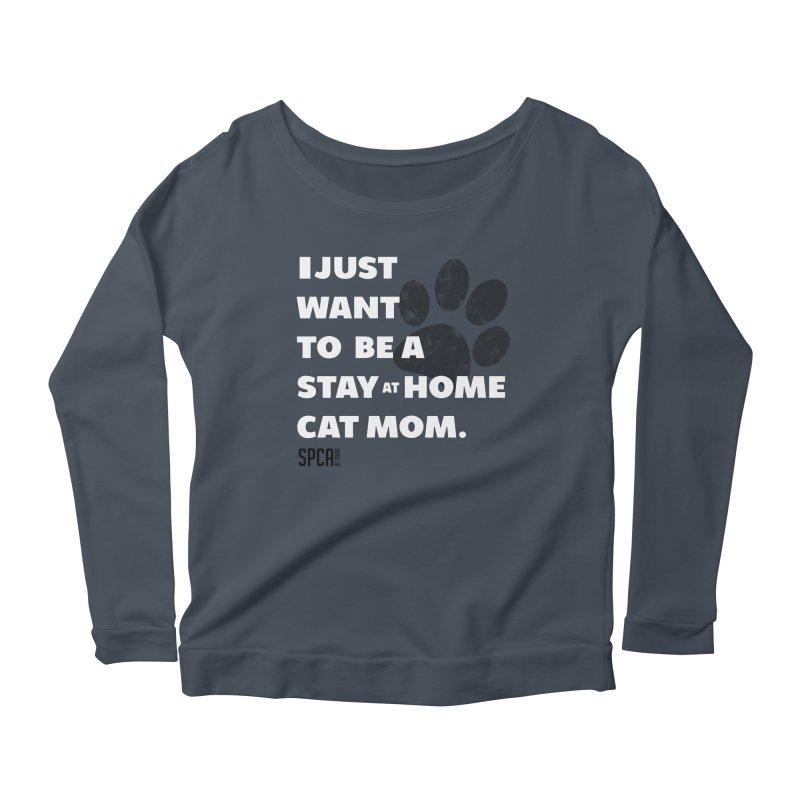 Cat Mom Women's Scoop Neck Longsleeve T-Shirt by SPCA of Texas' Artist Shop