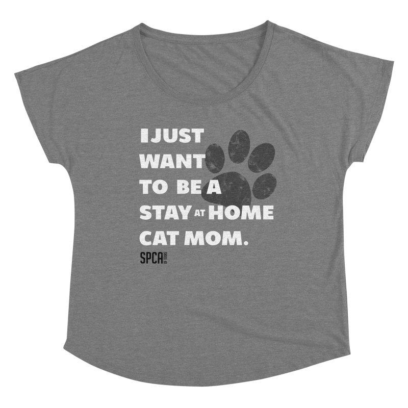 Cat Mom Women's Scoop Neck by SPCA of Texas' Artist Shop