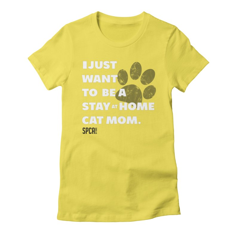 Cat Mom Women's Fitted T-Shirt by SPCA of Texas' Artist Shop