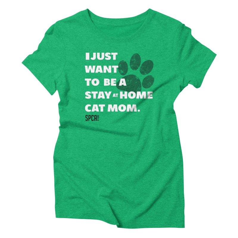 Cat Mom Women's Triblend T-Shirt by SPCA of Texas' Artist Shop