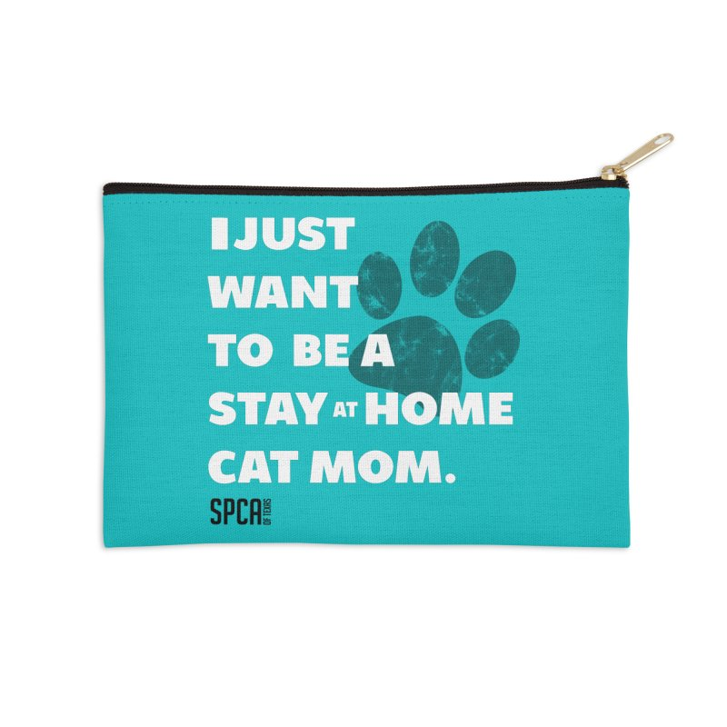 Cat Mom Accessories Zip Pouch by SPCA of Texas' Artist Shop