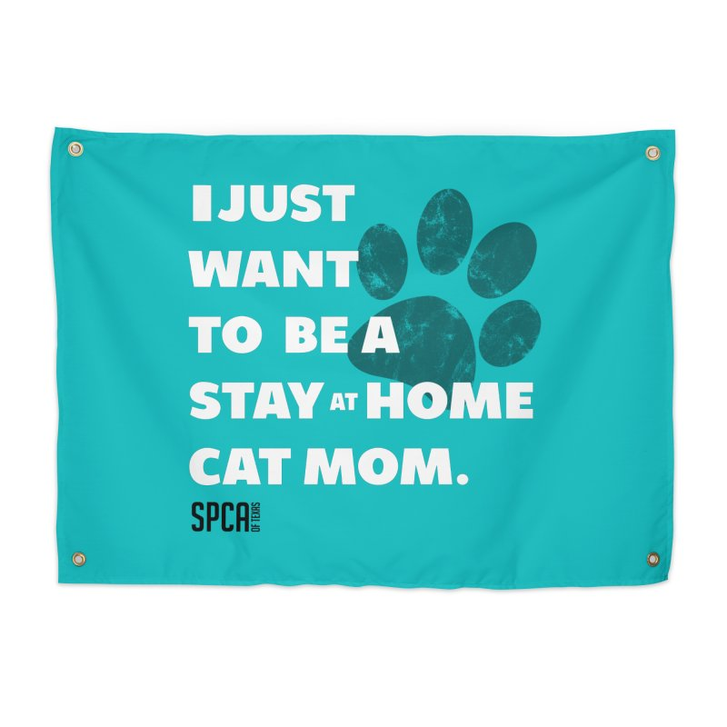 Cat Mom Home Tapestry by SPCA of Texas' Artist Shop