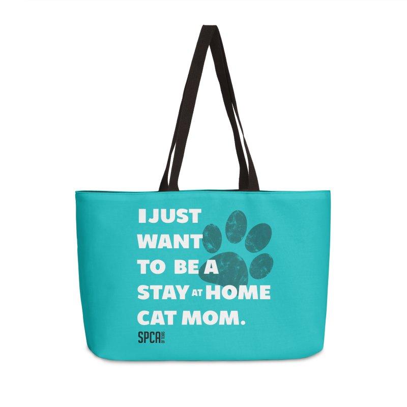 Cat Mom Accessories Weekender Bag Bag by SPCA of Texas' Artist Shop
