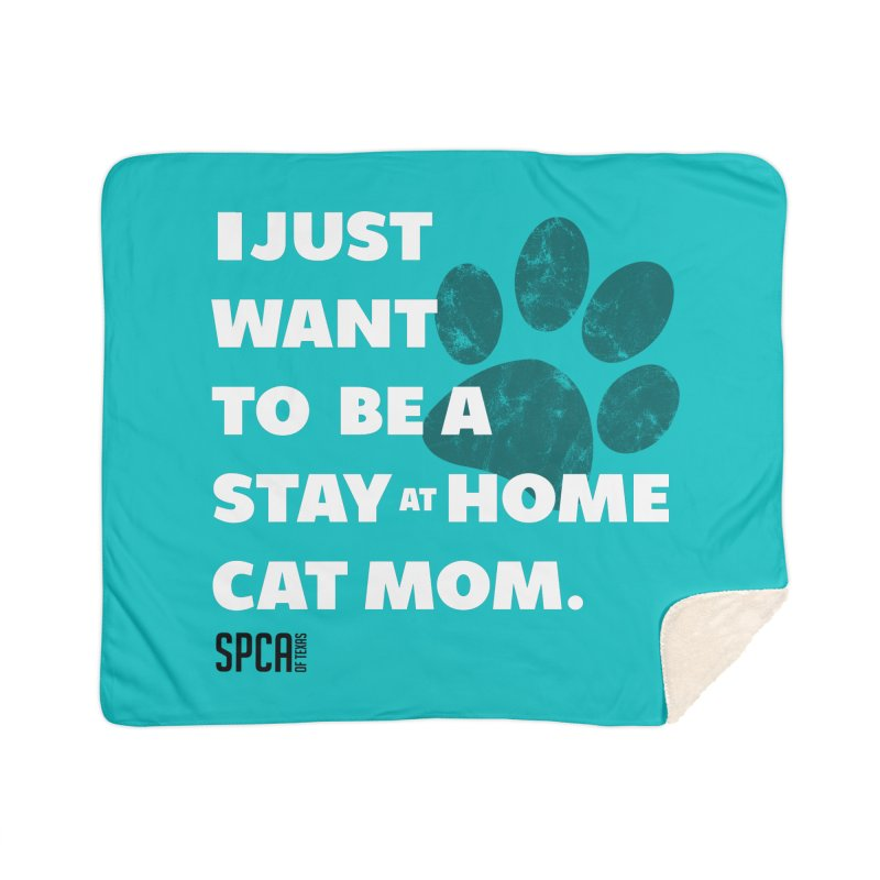 Cat Mom Home Blanket by SPCA of Texas' Artist Shop