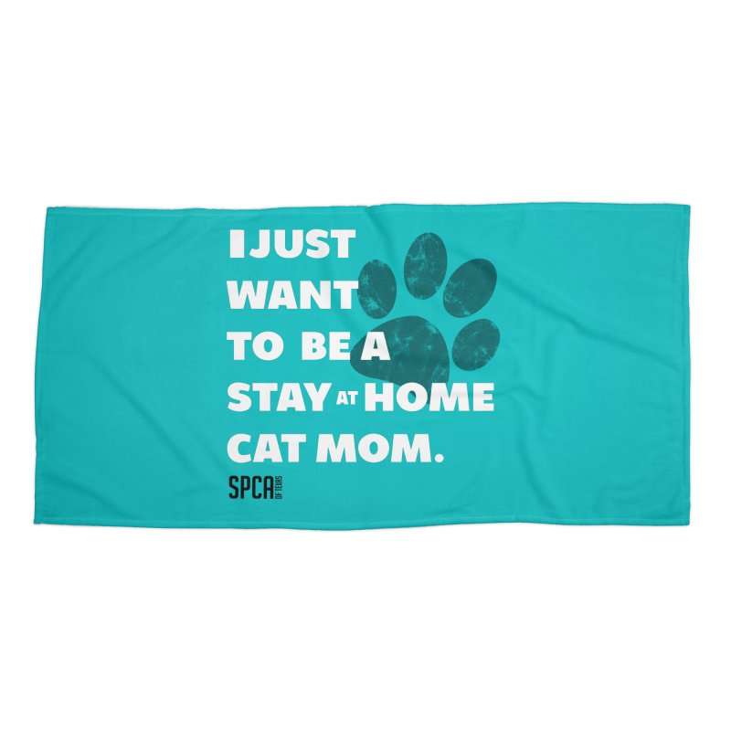 Cat Mom Accessories Beach Towel by SPCA of Texas' Artist Shop